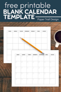 Free printable blank monthly calendar template with text overlay- free printable blank calendar template