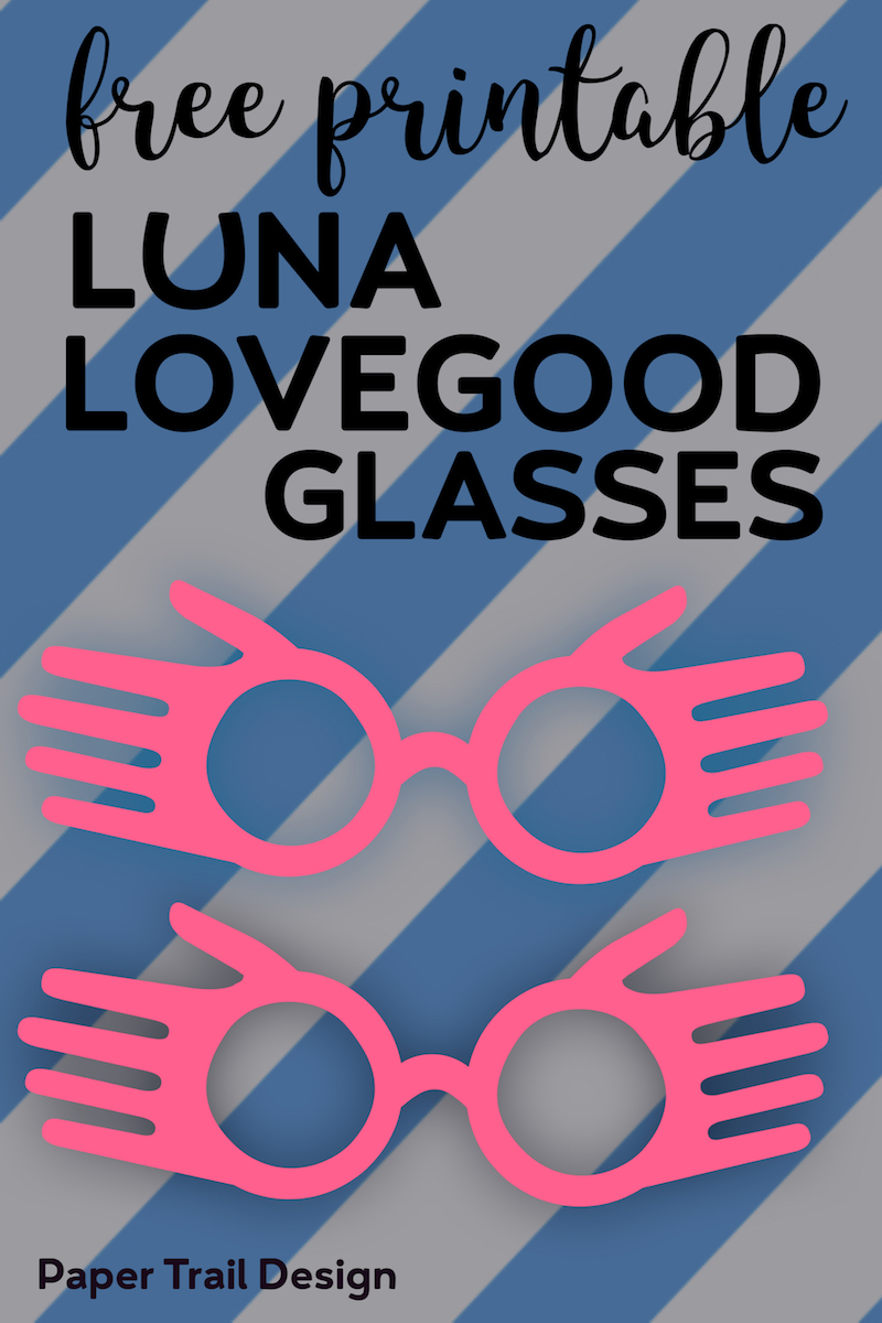 Free Printable Luna Lovegood Glasses Template Paper Trail Design