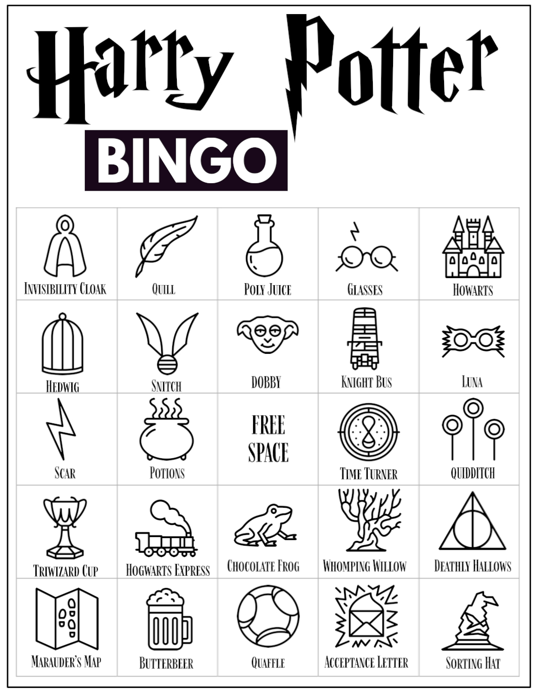 30 Free Harry Potter Coloring Pages Printable | 1375x1063