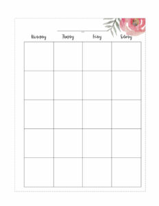Floral Happy Planner calendar page in classic size. Right page Wednesday, Thursday, Friday, Saturday.