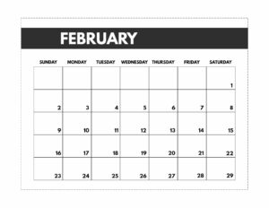 February 2020 Free Monthly Calendar Template in classic happy planner size.