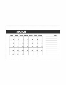 March 2020 Free Monthly Calendar Template in mini happy planner size.