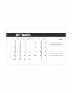 September 2020 Free Monthly Calendar Template in mini happy planner size.