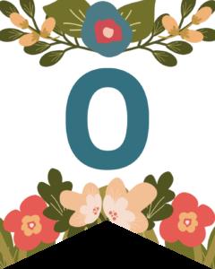 Number 0 Flower Alphabet Banner Letters Free Printable