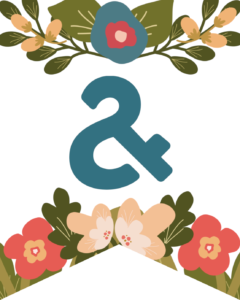 Ampersand Flower Alphabet Banner Letters Free Printable