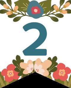 Number 2 Flower Alphabet Banner Letters Free Printable