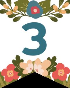 Number 3Flower Alphabet Banner Letters Free Printable
