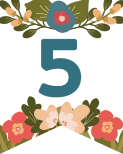Number 5 Flower Alphabet Banner Letters Free Printable