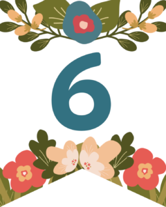Number 6 Flower Alphabet Banner Letters Free Printable