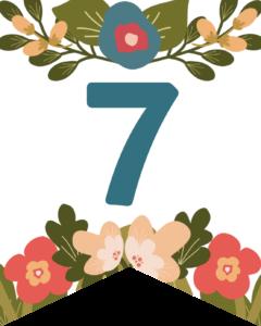 Number 7 Flower Alphabet Banner Letters Free Printable