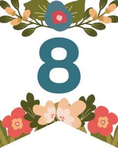 Number 8 Flower Alphabet Banner Letters Free Printable