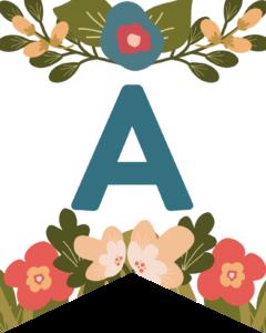 Letter A Flower Alphabet Banner Letters Free Printable