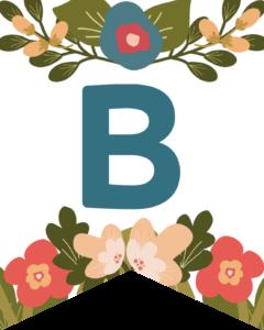 Letter B Flower Alphabet Banner Letters Free Printable