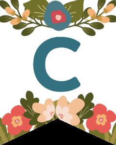 Letter C Flower Alphabet Banner Letters Free Printable