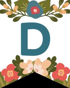 Letter D Flower Alphabet Banner Letters Free Printable