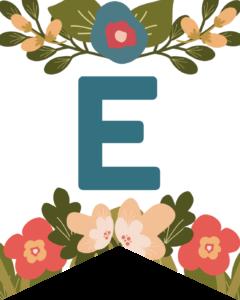 Letter E Flower Alphabet Banner Letters Free Printable