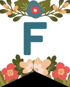 Letter F Flower Alphabet Banner Letters Free Printable