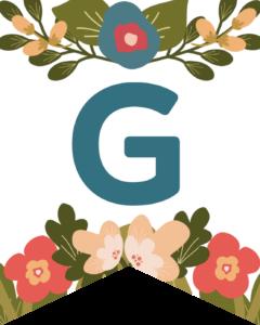Letter G Flower Alphabet Banner Letters Free Printable