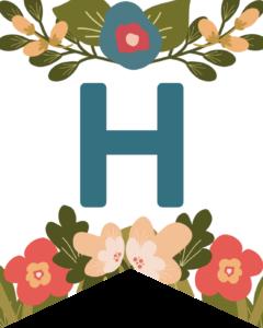 Letter H Flower Alphabet Banner Letters Free Printable