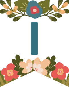 Letter I Flower Alphabet Banner Letters Free Printable