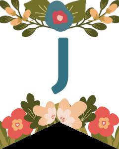 Letter J Flower Alphabet Banner Letters Free Printable