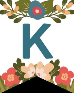 Letter K Flower Alphabet Banner Letters Free Printable