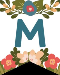 Letter M Flower Alphabet Banner Letters Free Printable