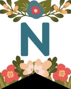 Letter N Flower Alphabet Banner Letters Free Printable