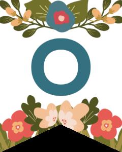 Letter O Flower Alphabet Banner Letters Free Printable