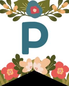 Letter P Flower Alphabet Banner Letters Free Printable