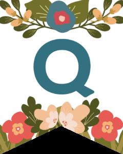 Letter Q Flower Alphabet Banner Letters Free Printable