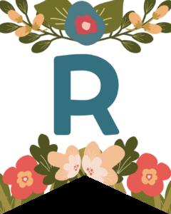 Letter R Flower Alphabet Banner Letters Free Printable
