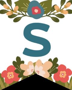 Letter S Flower Alphabet Banner Letters Free Printable