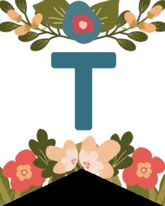 Letter T Flower Alphabet Banner Letters Free Printable