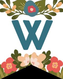 Letter W Flower Alphabet Banner Letters Free Printable