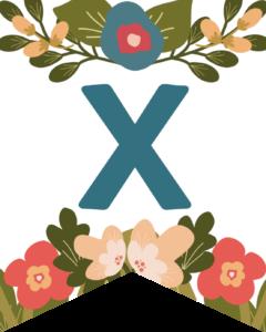 Letter X Flower Alphabet Banner Letters Free Printable