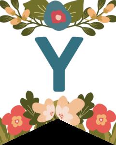 Letter Y Flower Alphabet Banner Letters Free Printable