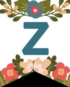 Letter Z Flower Alphabet Banner Letters Free Printable