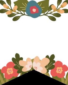 Blank Flower Alphabet Banner Letters Free Printable