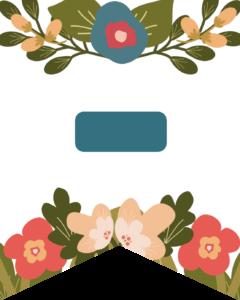 Dash Flower Alphabet Banner Letters Free Printable