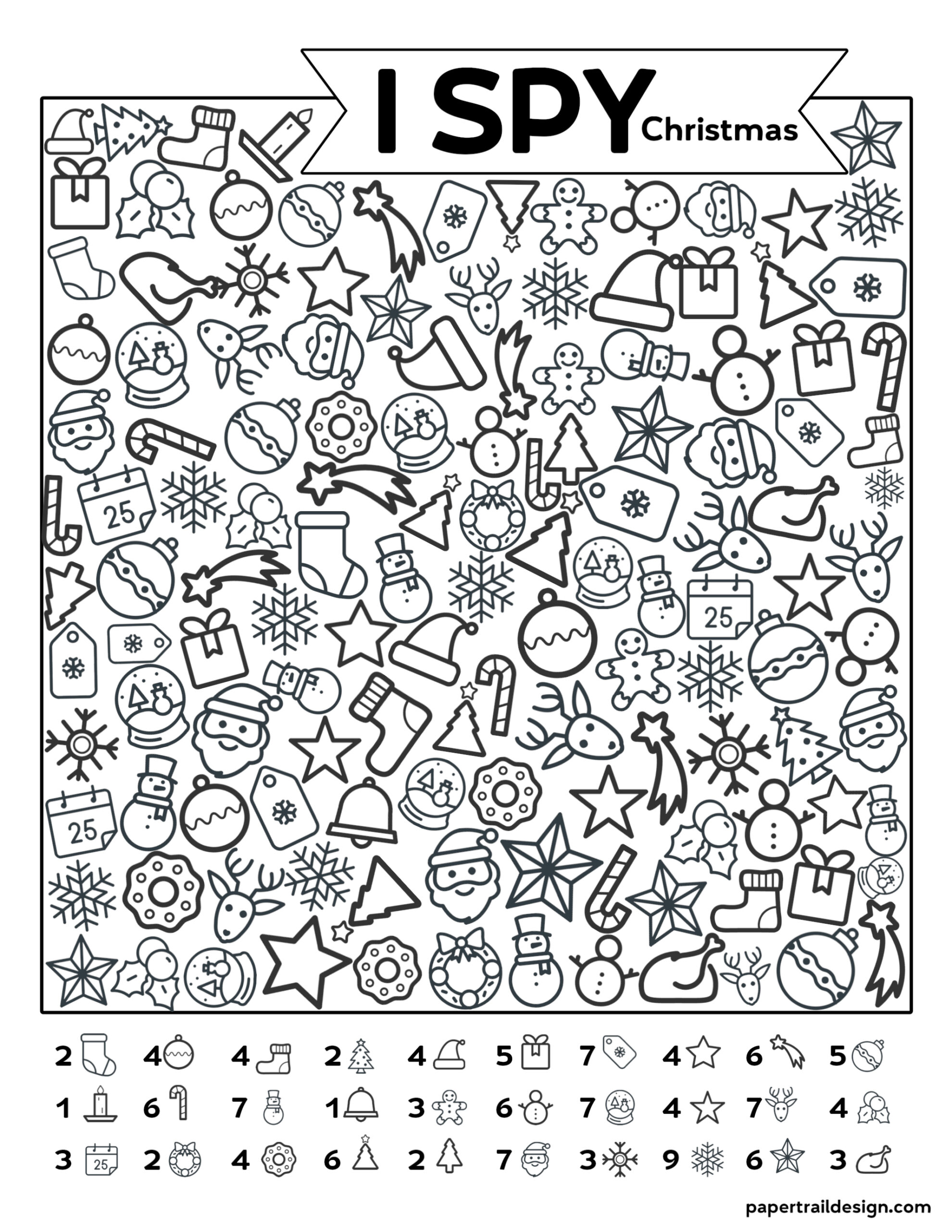 This is a picture of Striking I Spy Printable Worksheets