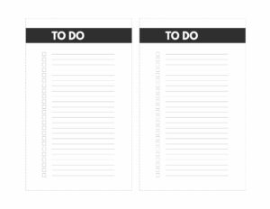 To Do Printable checklist in mini happy planner size