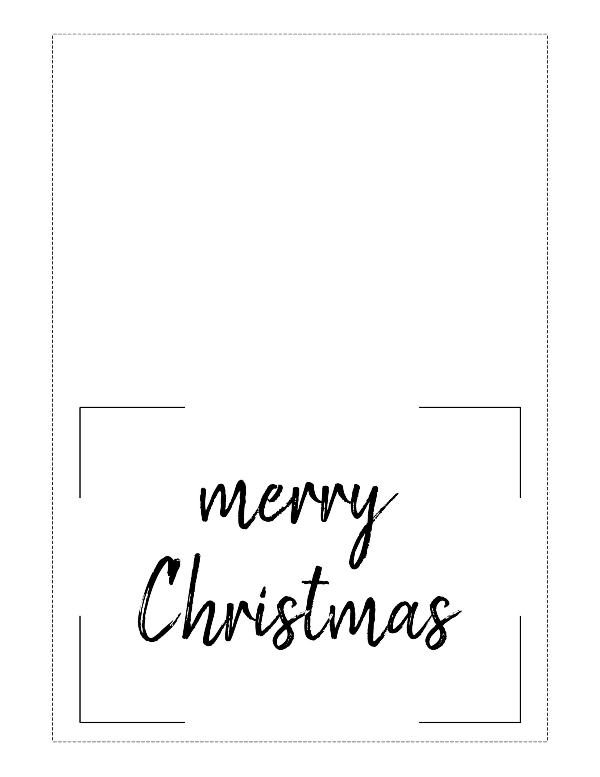 Free Printable Christmas Cards (Basic)  Paper Trail Design