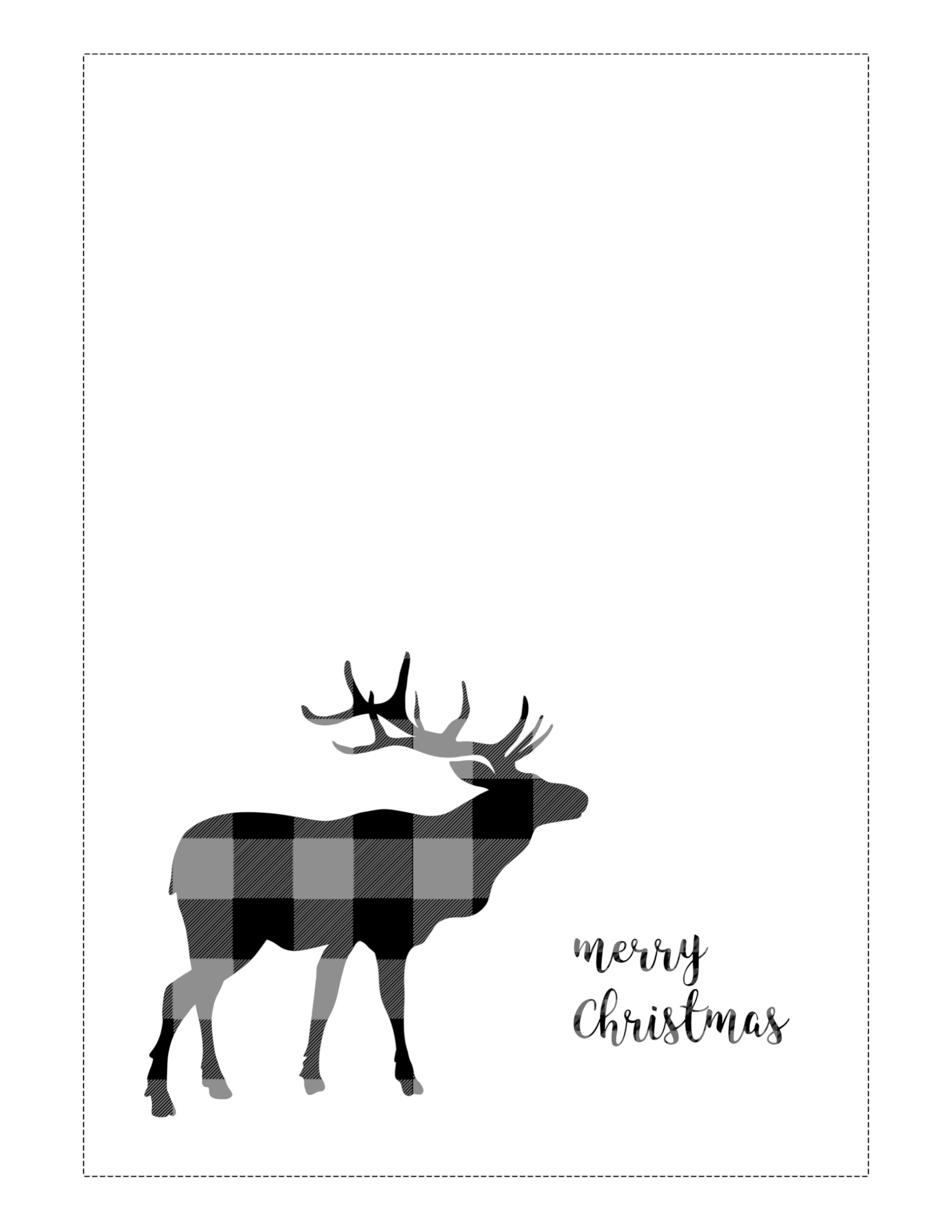 Free Printable Christmas Cards Basic Paper Trail Design