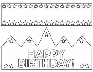 "Printable birthday crown that says ""Happy Birthday"""
