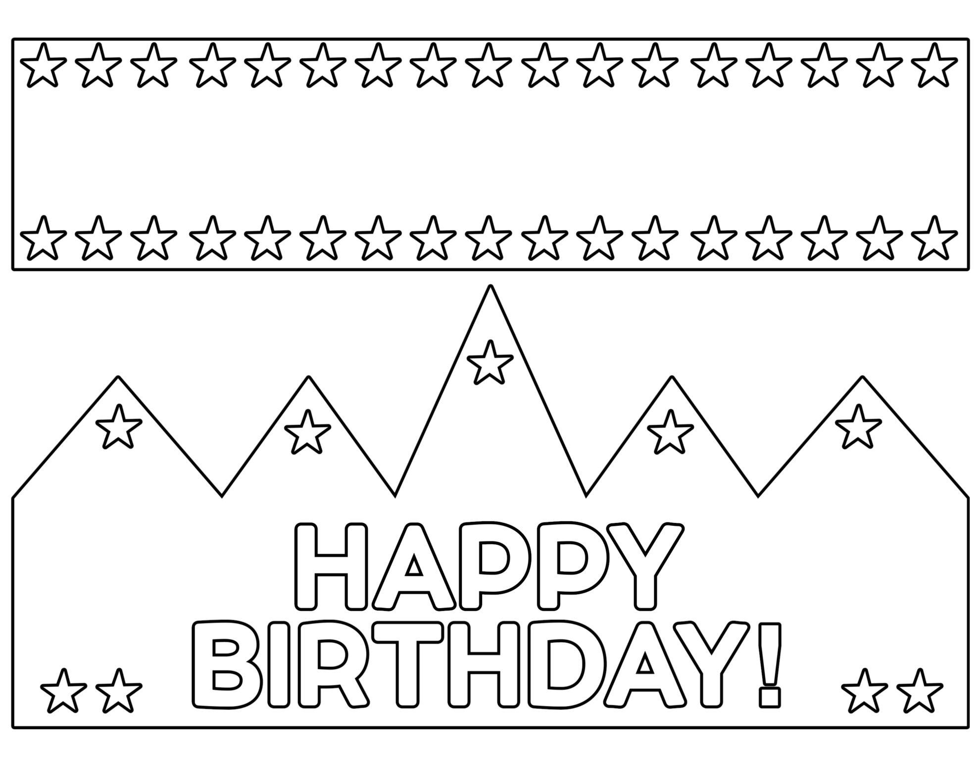 Free Printable Happy Birthday Crown | Paper Trail Design
