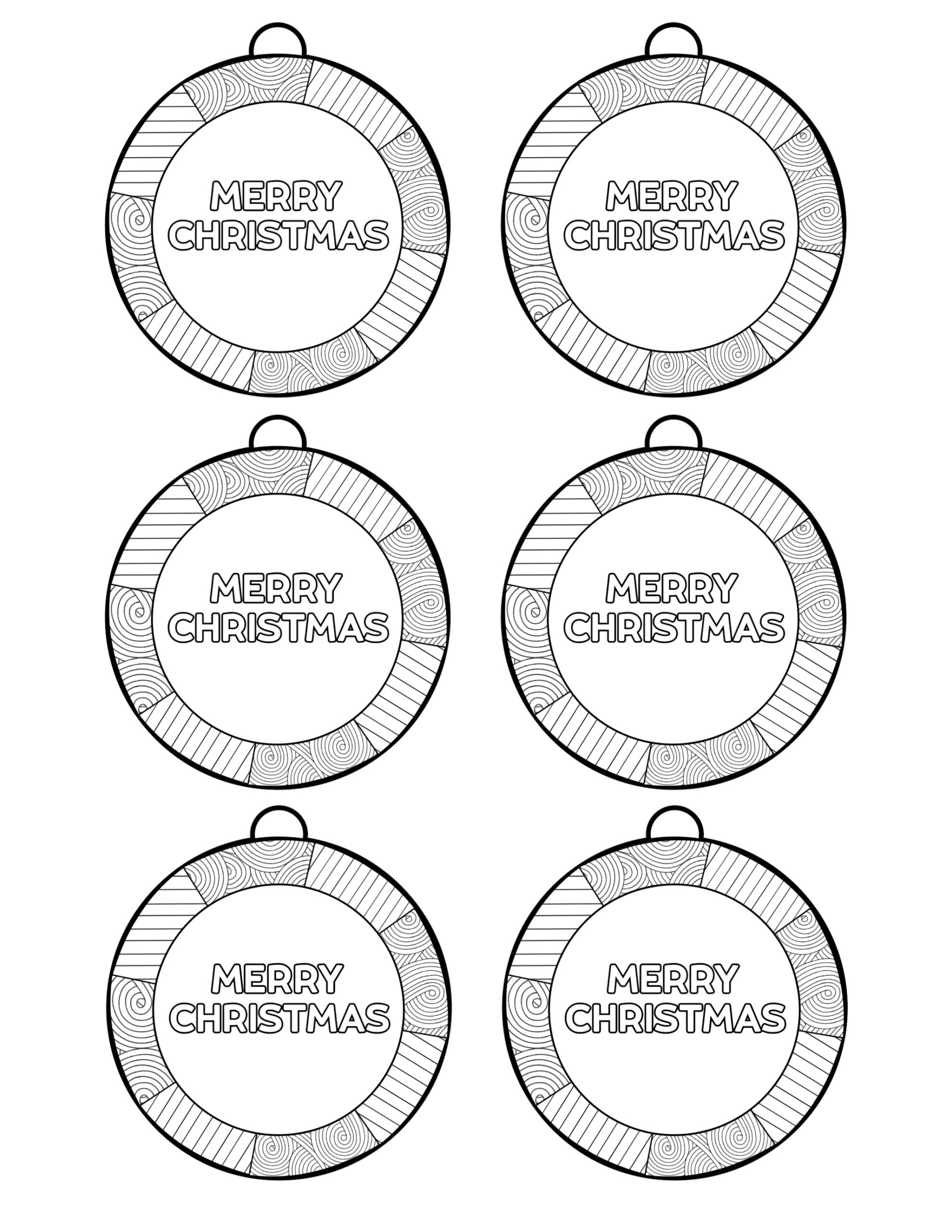- Color In Christmas Ornaments Printable - Paper Trail Design