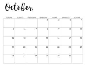 Free Printable 2020 November Calendar - Monday Start.
