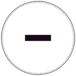 Circle banner symbol - dash