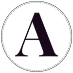 Circle banner letter A